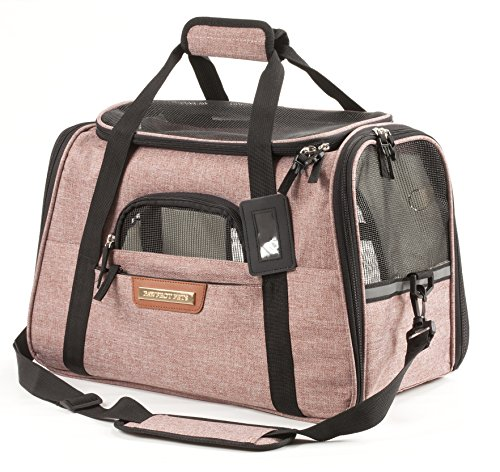 Pawfect Pets Airline Approved Pet Carrier Soft-Sided Cat Carrier and Dog Carrier
