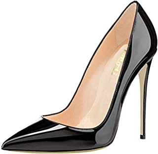 Women's Thin Heels Shoes Pointy Toe Party Dress Pumps