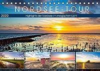 Nordsee-Tour (Tischkalender 2022 DIN A5 quer): Maritime Highlights an der Nordsee (Monatskalender, 14 Seiten )