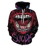 SALonejun 2021 Clown Big Mouth Joker 3D Print Sweatshirt Hoodies Men Women Hip Hop Funny Streetwear Hoodies Sweatshirt Couples Clothes-715_XXS