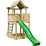 Blue Rabbit 2.0 Spielturm PAGODA mit Rutsche 2,90 m großes Podest 1,60 x 1,40 m Kletterturm...