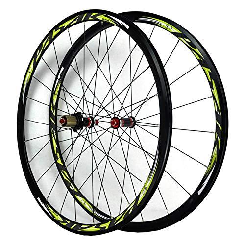 ZFF 700C Fahrrad Vorderrad & Hinterrad Rad 30mm Schnellspanner Aluminium Kohlenstoff Rennrad Laufradsatz Abgedichtetes Lager 7/8/9/10/11 Fach C/V-Bremse