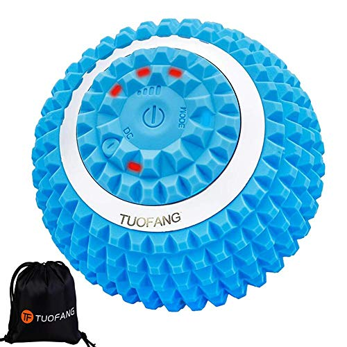 Electric Vibrating Massage Ball, 4-Speed High-Intensity Fitness Yoga Massage Roller, Relieving Muscle Tension Pain & Pressure Massagers, Rechargeable & Washable Neck/Back/Waist/Foot etc Body Massager