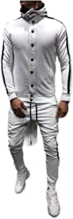 بدلة رياضية للرجال من Comaba بألوان متنوعة مع غطاء رأس نحيفة بأزرار فضفاضة