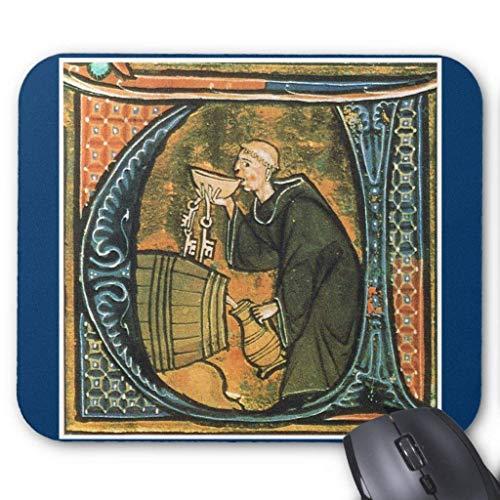 Muis Mat, Gaming Mouse Pad Grote Grootte 300x250x3mm Dikke Middeleeuwse Monnik Proeven Wijn Verlengde Muis Pad Antislip Rubber