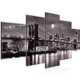 decoración de la mesa de la pared de la ciudad de Nueva York - 200 x 100 cm Vista de impresión en lienzo Salón Apartamento - listo para colgar - 606751c