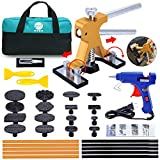 YOOHE Auto Dent Puller Kit - Paintless Dent Puller, Adjustable Golden Car Dent Puller, Car Dent Repair Kit with 16 Pcs Thickened Tabs for Auto Body Dent Repair and Hail Damage