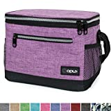 OPUX Premium Lunch Box, Insulated Lunch Bag for Women Adult | Durable School Lunch Pail for Girls, Kids | Soft Leakproof Medium Lunch Cooler Tote for Work Office | Fits 8 Cans (Heather Purple)