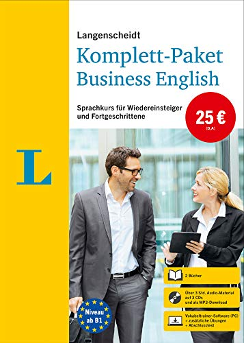 Langenscheidt Komplett-Paket Business English: Sprachkurs mit 2 Büchern, 3 Audio-CDs, MP3-Download, Software-Download: Sprachkurs für Wiedereinsteiger und Fortgeschrittene