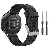 MoKo Bracelet Compatible avec Garmin Forerunner 235/235 Lite/220/230/620/630/735 Smartwatch, Watch Band Flexible en Silicone avec...