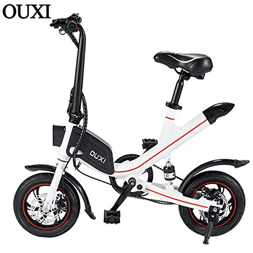 OUXI V1 Electric Bike, Electric Folding Bike for Adults Ebike with 250w 7.8AH Lithium Battery Up to 25km/h City Bicycle for Outdoor Cycling Travel and Commute