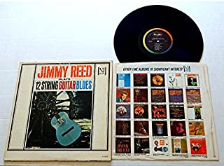 JIMMY REED PLAYS 12 STRING GUITAR BLUES - Vee-Jay Records 1963 - USED Vinyl Record Album - 1963 Monarch MR Pressing - MONO -Bright Lights Big City Blue Carniege Baby What You Want Me To Do