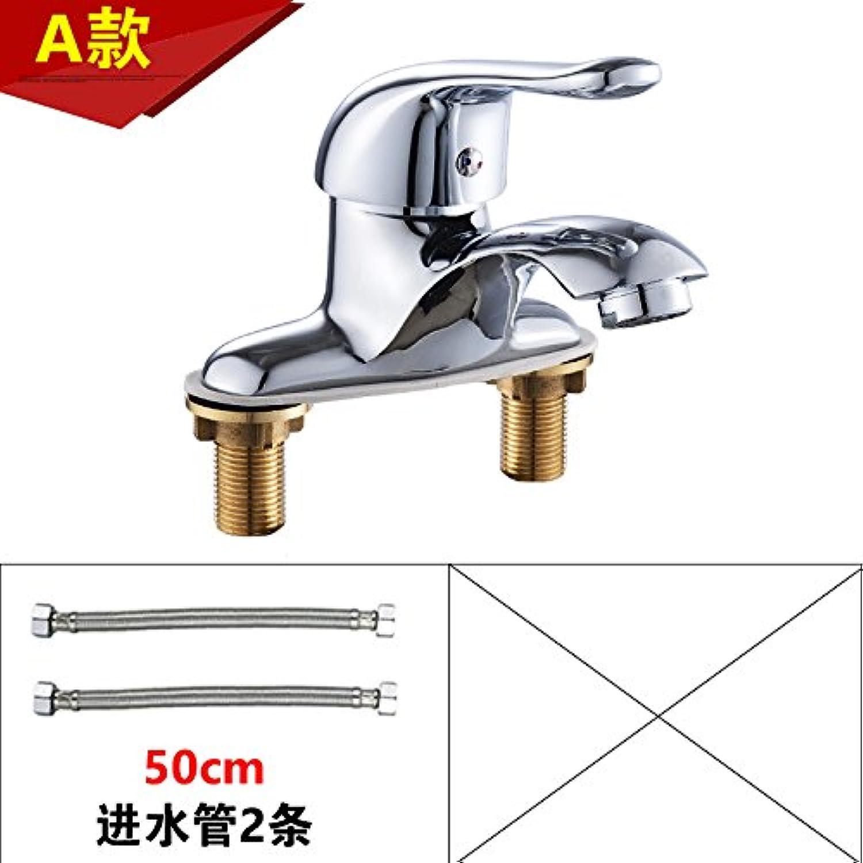 Bijjaladeva Antique Bathroom Sink Vessel Faucet Basin Mixer Tap Basin faucet hot and cold two hole faucet basin sink faucet full copper Washbasin Faucet A +50CM hose 2