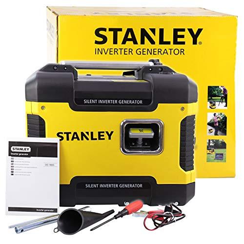 Stanley 604800110 stroomgenerator, inverter, noodstroomaggregaat, benzine, stil, 1.900 Watt