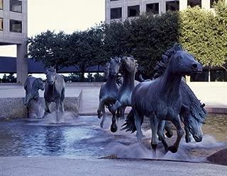 HistoricalFindings Photo: Robert Glen's 'Mustangs of Las Colinas' Sculptures,Irving,Texas,TX,Highsmith