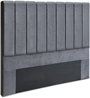 Artiss Queen Size Fabric Bed Headboard - Grey
