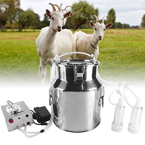 TTLIFE Mungitrice elettrica Tiralatte portatile con dispositivo per sciogliere il seno di capra e pecora da 14 litri Mungitrice per capre sottovuoto per piccole aziende agricole domestiche per pecore