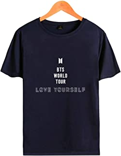 SIMYJOY BTS T-Shirt M/änner und Frauen Koreanische Welle Fans Konzerte Songkost/üms T/äglich Pendeln Cute Characters T-Shirts