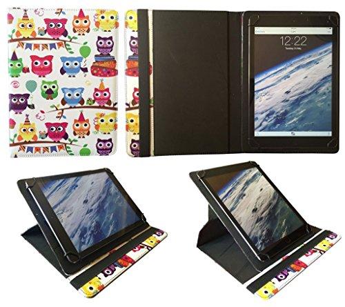 Odys Visio 10.1 Zoll Tablet Bunt Eule Universal 360 Grad Drehung PU Leder Tasche Schutzhülle Hülle von Sweet Tech