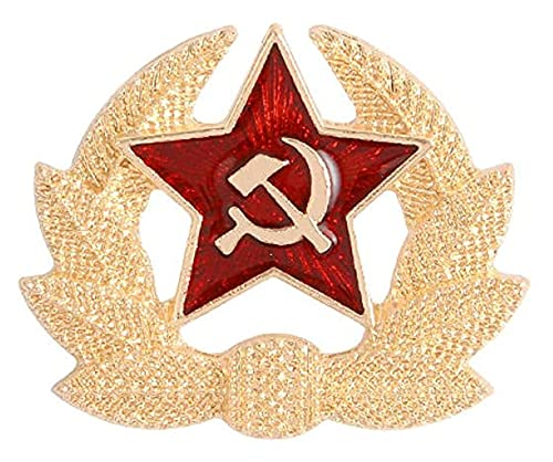 Lzpzz Broche para mujer, diseño retro de cinco puntas, con diseño de estrella comunista, colección de broches, color 3