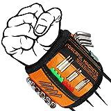 Pulsera Magnética, Muñequera Magnética, Regalo de Hombre, Hombre, Wristband Magnético con 15 Imanes Súper Fuertes para Tornillos/Clavos/Brocas, Regalo Padre, Gadgets Hombre