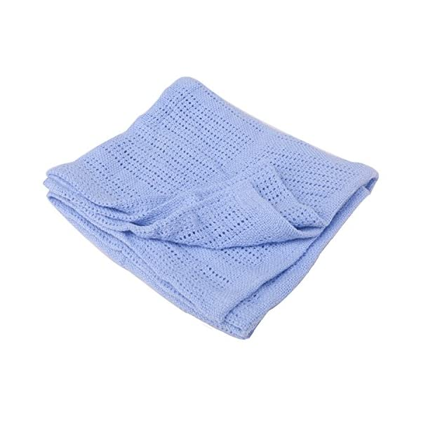 Niuniu Daddy Cellular Baby Throw Blanket Fuzzy Fluffy Soft Warm Crib Fleece Blanket Cozy Toddler Infant Newborn Girl Boy Bedding(Blue)