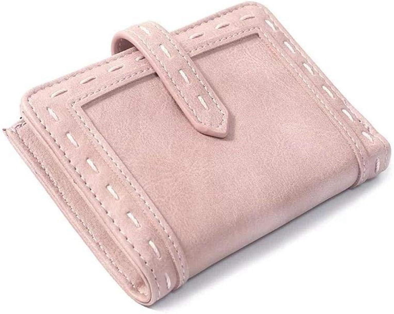 Girls Purse Women's Wallet Ladies Wallet Short bifold Small Fresh Zipper Pocket Wallet (color   D)