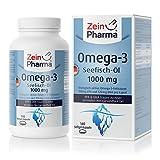 Cápsulas de Omega-3 Aceite de Pescado 1000mg de ZeinPharma • 140 cápsulas softgel (un mes de suministro) • con EPA, DHA y Vitamina E • Hecho en Alemania