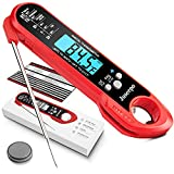 Juseepo Instant Read Waterproof Meat Thermometer - 2s...