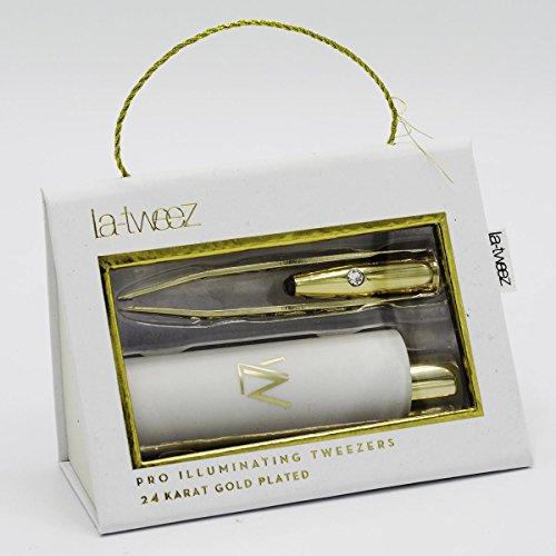La-Tweez Gold Edition Pince à épiler avec lumière LED