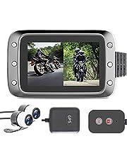 バイク用 ドライブレコーダー 前後カメラ 防水カメラ GPS対応 1080P HD ループ録画 WDR 高画質 リモコン付き GPS受信機付き 200万画素 1080P Gセンサー 140°広角