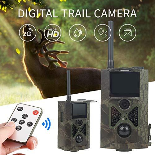 KUANGQIANWEI Wildkamera Hc300m Jagd-Kamera MMS 12MP 1080P Nachtsicht Infrarot-Jagd-Hinterkamera Fotofallen wasserdichte Kamera Wilde