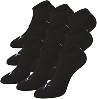 12 Pares, Calcetines para Zapatillas Deportivas, Color Negro