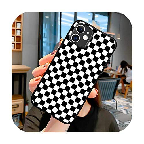 moda Plaid Leopard Celosía impresión teléfono caso para iPhone 12 Mini 6 6S 7 8 SE Plus X XS XR 11 Pro Max funda suave silicona cubierta H1951T-para 11 Pro Max