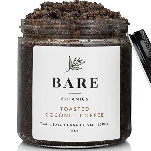 Bare Botanics Arabica Coffee Body Scrub (Coconut) Mega 16oz | Gently Exfoliating, All Natural, Non-Greasy, Ultra Moisturizing, No Synthetic Fragrances, Handmade in USA, Organic