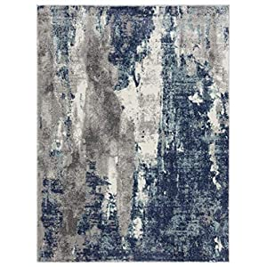 Luxe Weavers Euston Blue 2 x 3 Abstract Modern Area Rug 7681