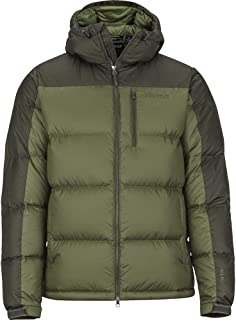 Mens Guides Down Hoody Bomber Green/Forest Night (Large)
