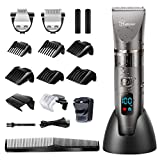 Hatteker Professional Hair Clipper Cordless Clippers Hair Trimmer Beard Trimmer Shaver Detail Trimmer