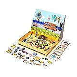 NANE Puzzles de Madera Magnético,Tablero de Dibujo de Doble Cara Magnético para niños de 3 años+Puzzles de Madera Magnético Dibujo Placa Rompecabezas