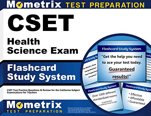 CSET Health Science Exam Flashcard Study System: CSET Test Practice Questions & Review for the California Subject Examin