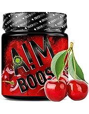 AIM BOOST® | Performance Booster voor gaming | 400 g | 40 porties | 23 werkzame stoffen | 247 mg cafeïne + tyrosine + theanine | 8 vitaminen | weinig suiker | (herry))