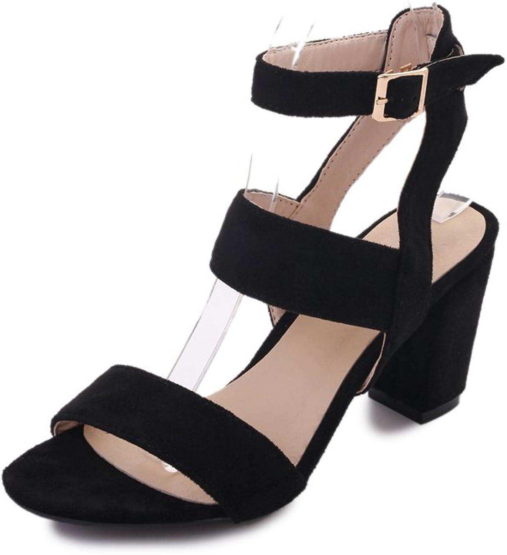 Exing Women's shoes Sandals Female Summer New Korean Version of Waterproof Platform Open-Toed Sandals High-Heeled shoes