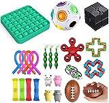 Set de juguetes sensoriales, con juguetes de malla, juguete de burbujas y bolas para apretar, ideales para aliviar el estrés y la ansiedad, para niños y adultos