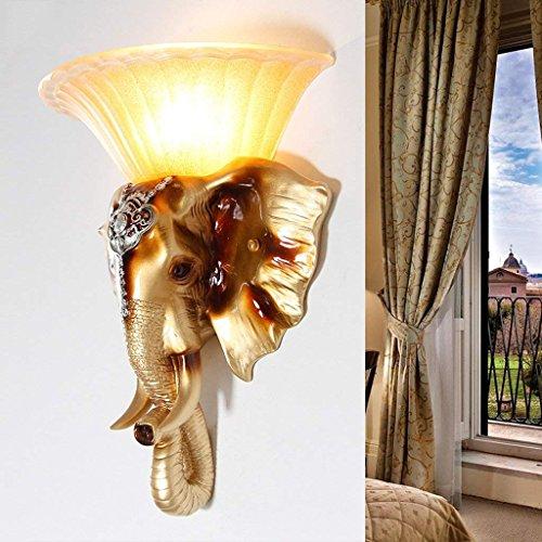 DSJ Europese stijl retro olifant wandlamp woonkamer achtergrond slaapkamer bedlampje trappen creatieve wandlamp