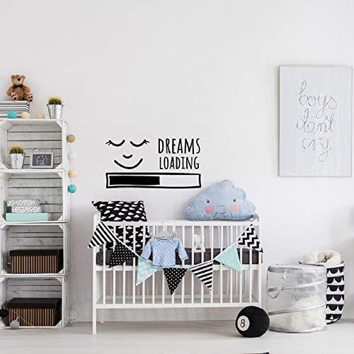 Traum laden Wandtattoos Kinder Abziehbilder über Schlafkrippe schlafen Baby Kinderzimmer Schlafzimmer Wohnkultur Zitat Kinder Vinyl Wand stickers60cm * 90cm