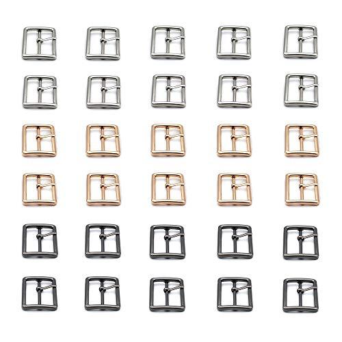 Nsiwem Fibbia 30 Pezzi Fibbie a Rullo in Metallo Fibbie per Cinture Fibbie Metalliche Fibbia a Rullo 3 Colori 25 mm per Borse Cintura in Pelle Fai da Te