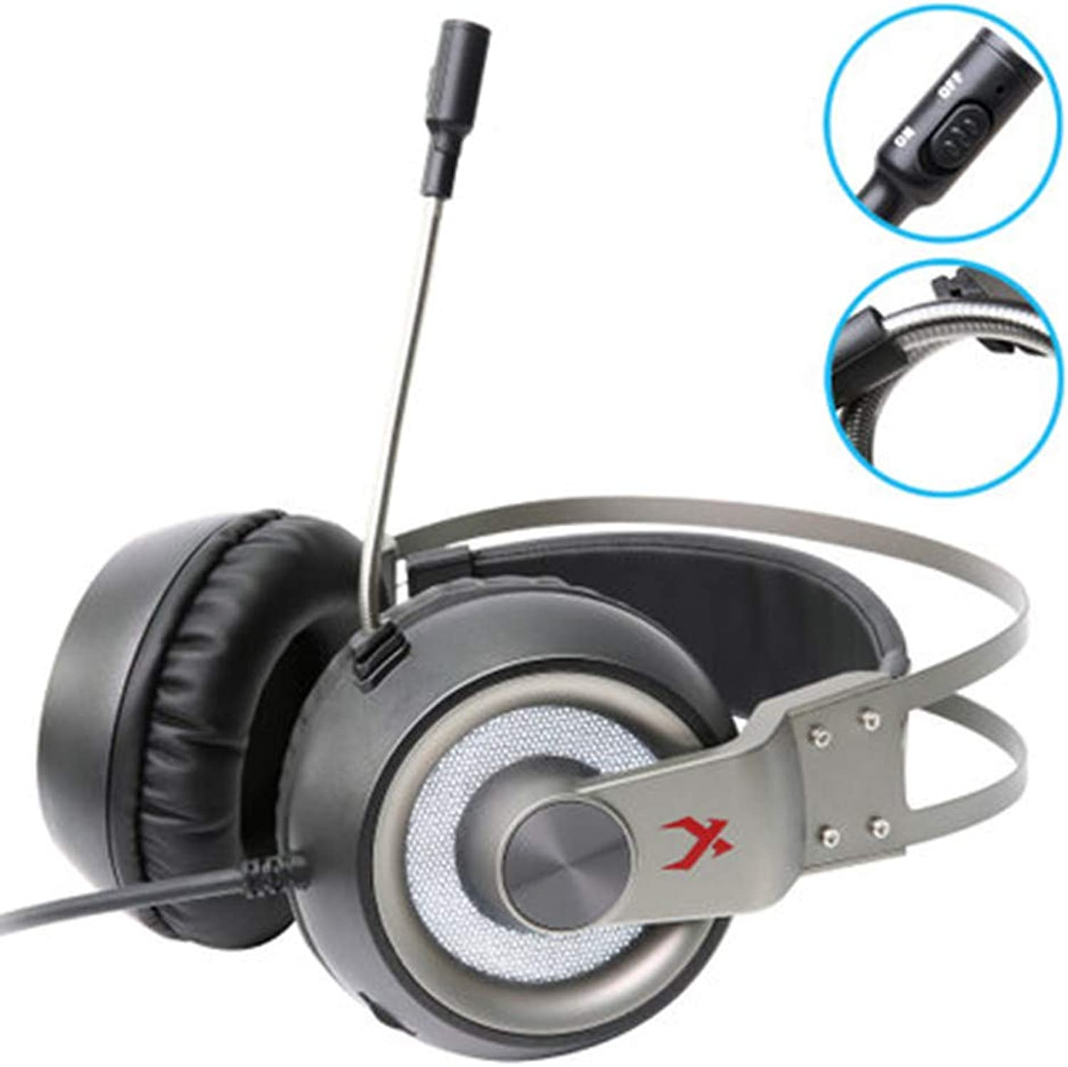 Chezaa XIBERIA K1Gaming Headphones with Microphone Headphones for PC   PS4  Laptop,High Sound Quality