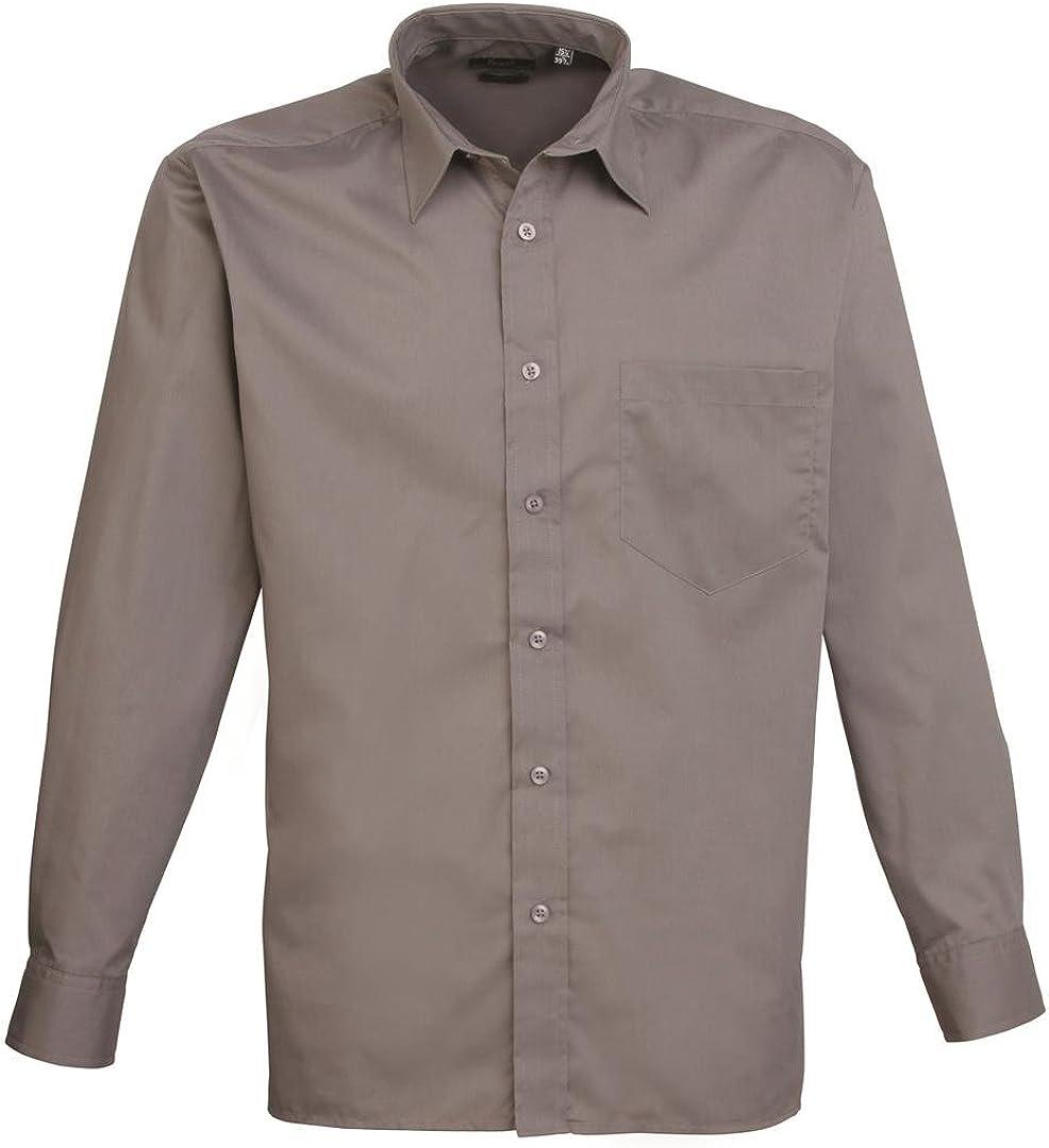 Unisex Formal Official Workwear Shirt Premier Long Sleeve Poplin Shirt PR200