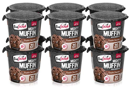 FlapJacked Mighty Muffins, Gluten-Free Double Chocolate, 12 Pack, 1.94 Ounce (Pack of 12) (ASINPPOSPRME25015)