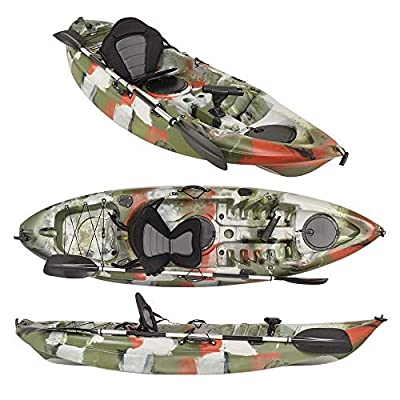 Wido Aquago Fishing Kayak Sit On Top Jungle Camouflage Seat Canoe Sea With Oars Angling Boat from Wido